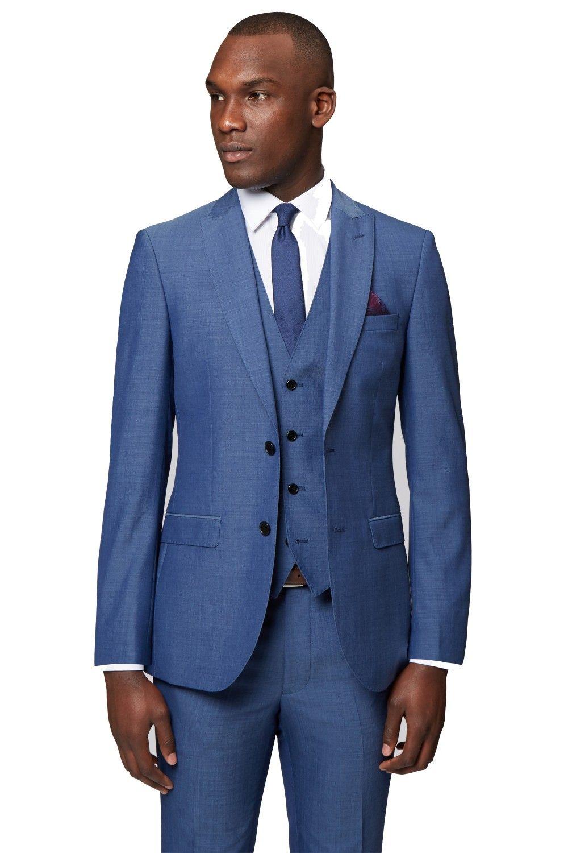 Neue Ankünfte Zwei Button Blauer Bräutigam Smoking Groomsmen Peak Revers Bester Mann Blazer Mens Hochzeitsanzüge (Jacke + Pants + Weste + Krawatte) H: 819