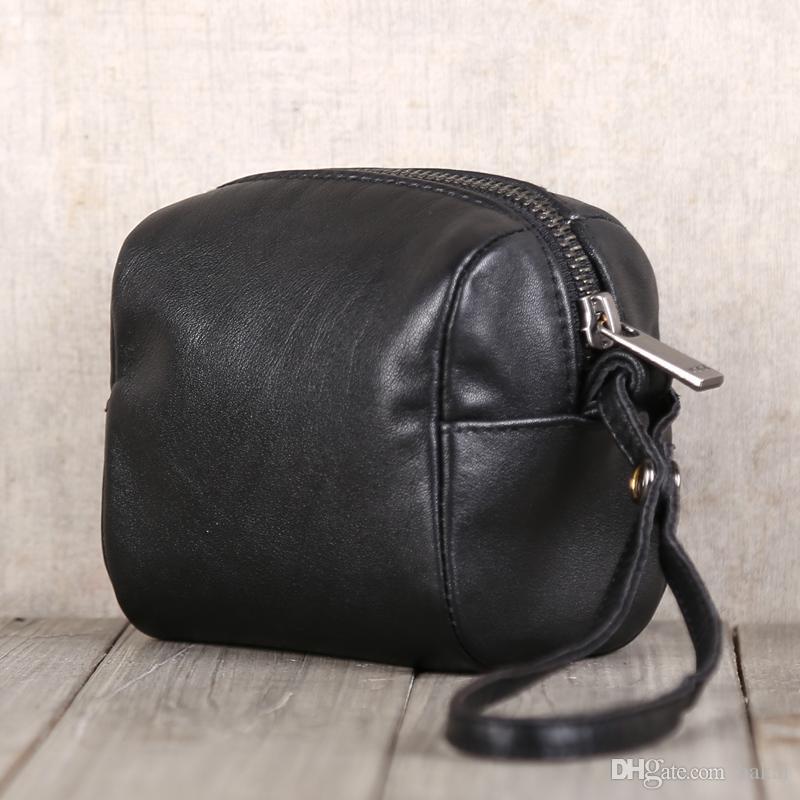Lange 2021 individuelle einfache Tasche Bag Edition koreanische Änderung Makeupkarte Leder neuer VFRJT