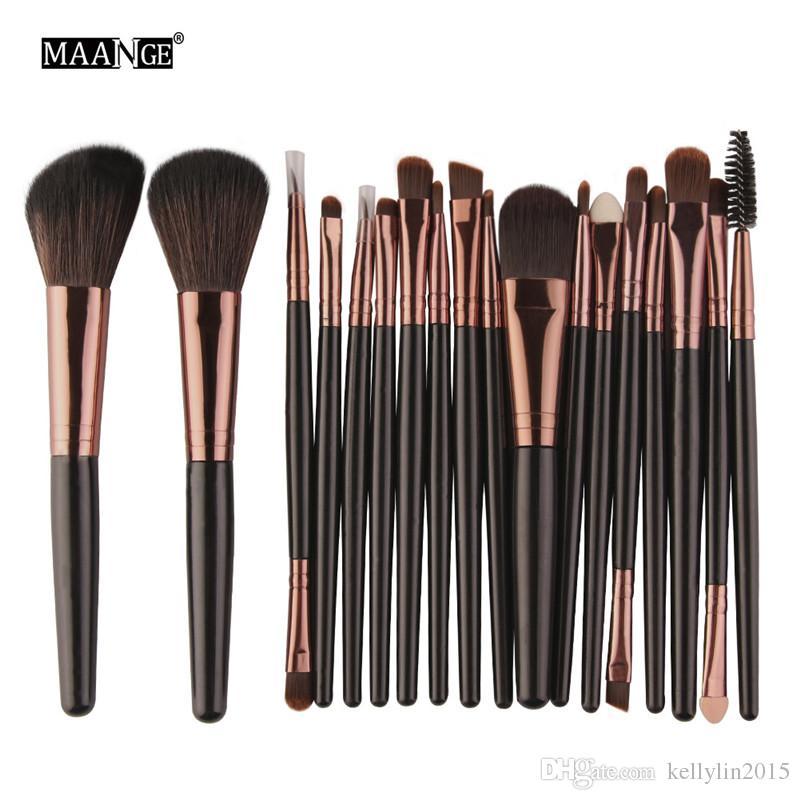 Make up Brushes Kit 18pcs MAANGE Eyeshadow Brushes Facial Powder Blush Foundation Makeup Brush Set Cosmetic Beauty Tools