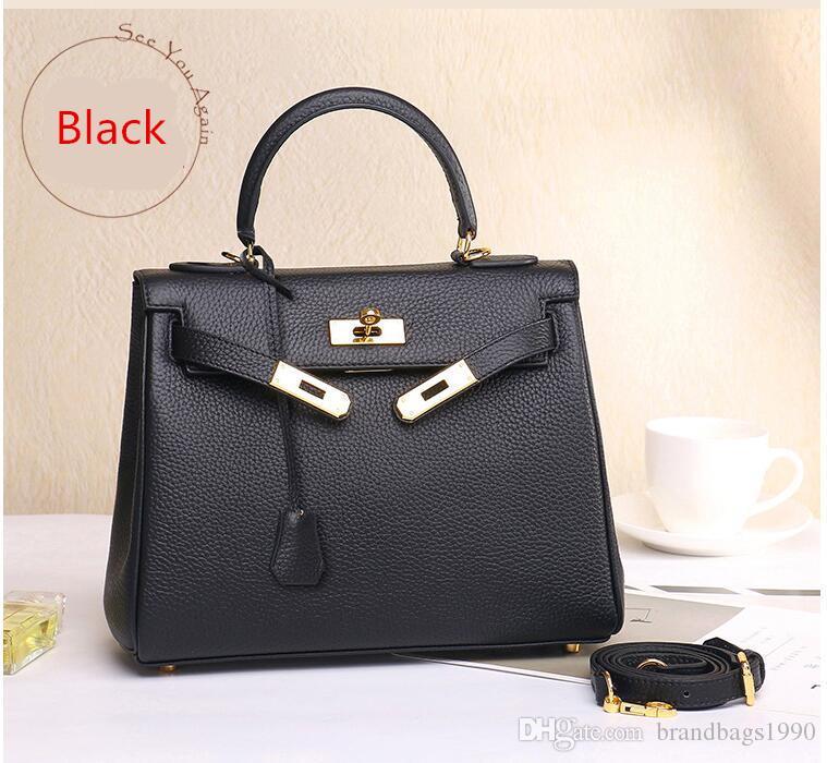 25cm 28cm 32cm women Totes Fashion Bags Cross Body Genuine leather Cowhide Shoulder Bags lady Handbag High Quality With dust bag