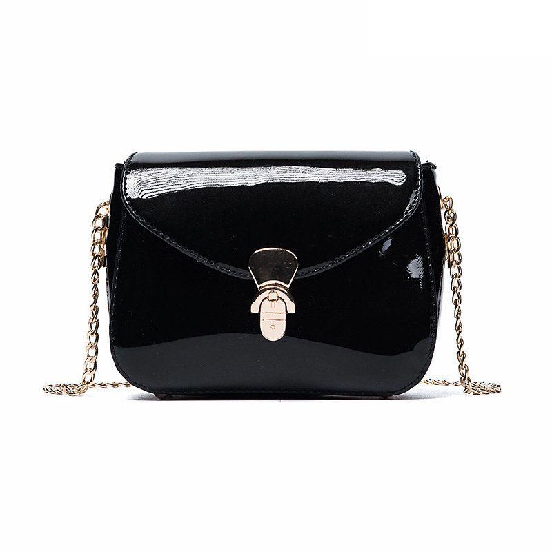 2018 crossbody bags for women leather handbags luxury handbags women bags designer patent chain shoulder bag bolsa sac a main