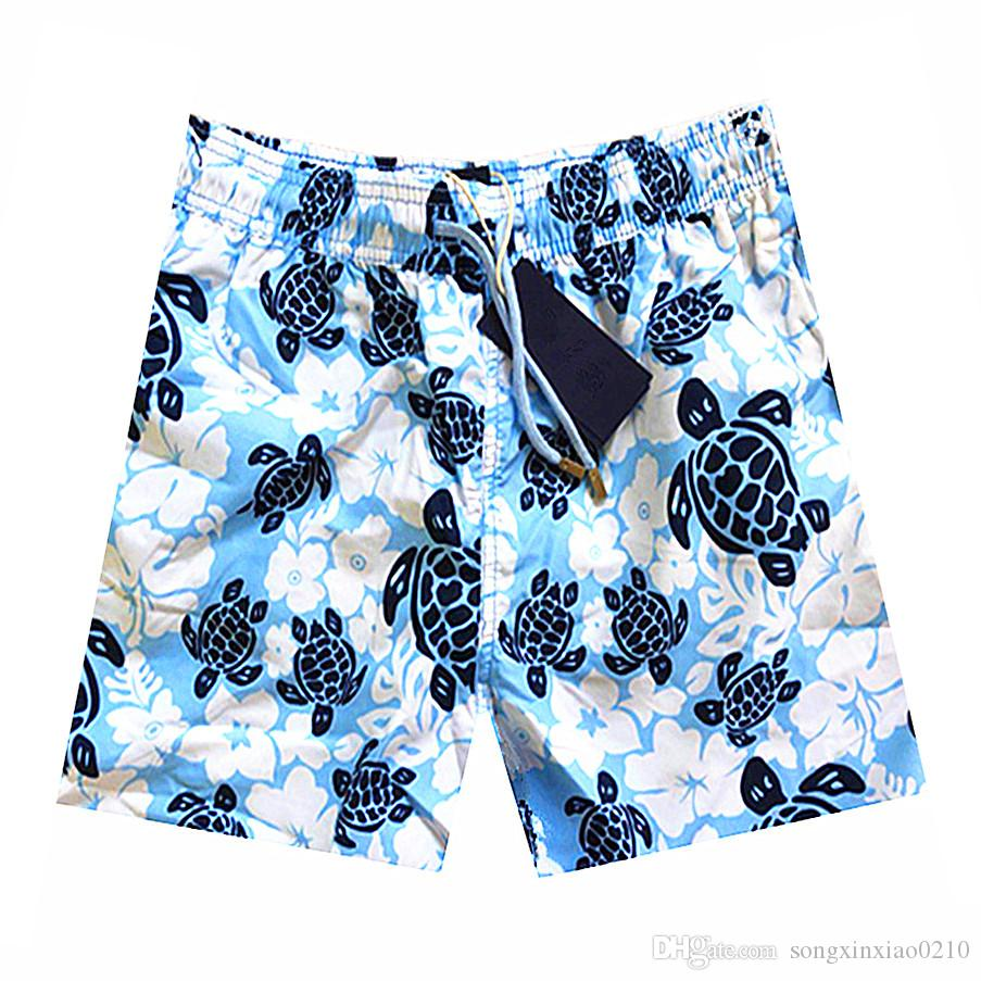 2018 Sommer Turtle Printed Marke Männer Strand Shorts Board Boxer Badehose Shorts Casual Bottoms Fitness Schnell Trocknend Aktive Shorts Mit tag