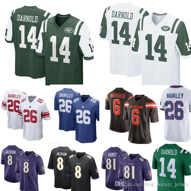 huge discount e39d0 489f8 2018 14# Sam Darnold Jersey Grey White New York Jets Football Jerseys Cheap  Wholesale 2018 New Football Jerseys S Xxxl From Best_soccer_jersey, $27.14  ...