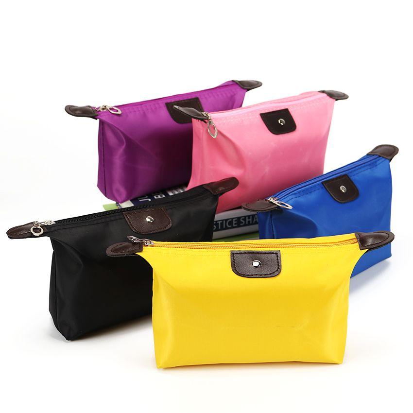8pcs / lot multifunzionale donne borsa cosmetica borse sacchetto dell'organizzatore delle signore borsa di nylon borse di stoccaggio di viaggio borsa di lavaggio