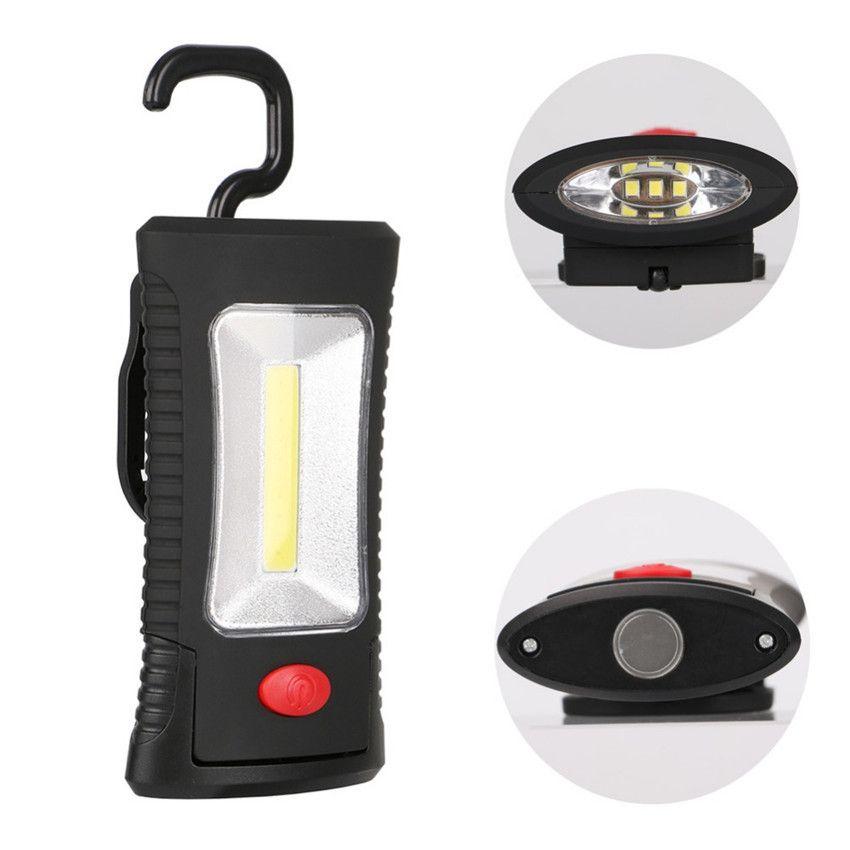 Multifunktionale Portable COB LED Magnetklapphaken Arbeitsinspektion Licht Taschenlampe Fackel Laternen Lampe USE 3xAAA
