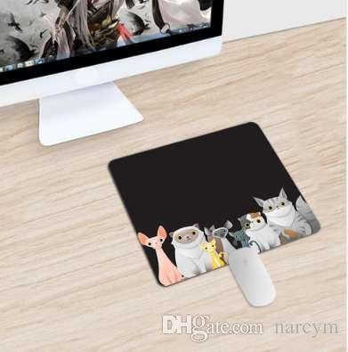 Adorável Cartoons Padrão Gaming Mouse Pad Gamer Mouse Pad De Borracha Mousepad Pequeno Tamanho