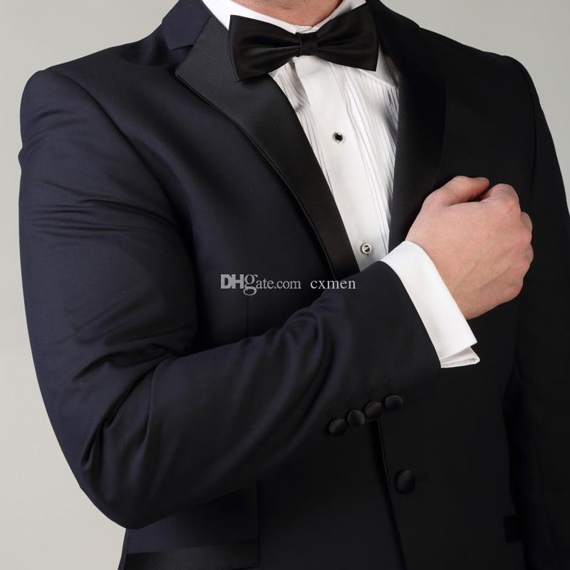2 Pieces Navy Blue Men Suits for Wedding Formal Business Tuxedo