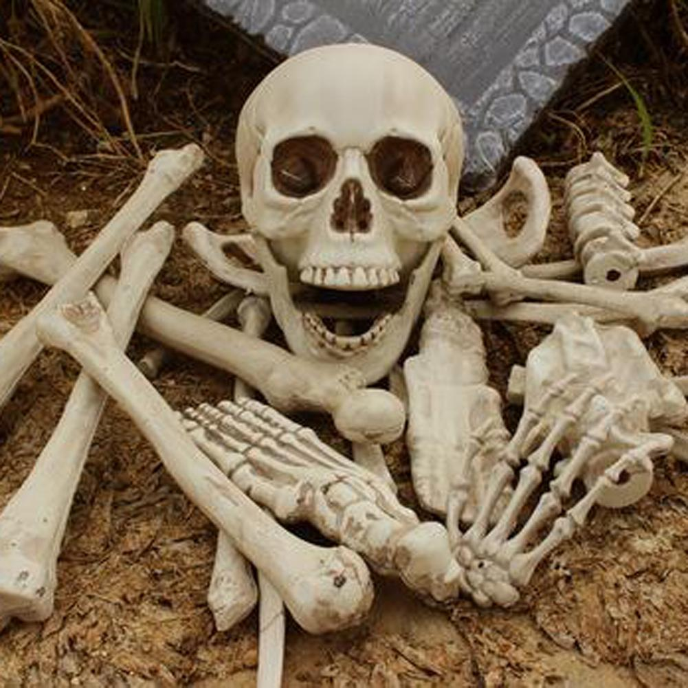 Fashion Halloween Scary Party Scene Props Horro Home Broken Bone Skull Haunted Halloween Decoration For Bar Party Haunted House