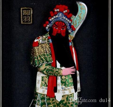Opera di Pechino cornice, Tre Regni personaggi Guan Yu, home hotel, appeso a parete decorativa, attività di pubbliche relazioni, affari esteri regalo