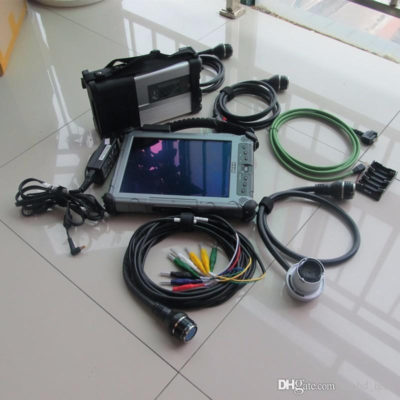 for mb star c5 diagnostic tool for car and truck with ssd with laptop tablet xplore ix104 i7 4g rugged pc