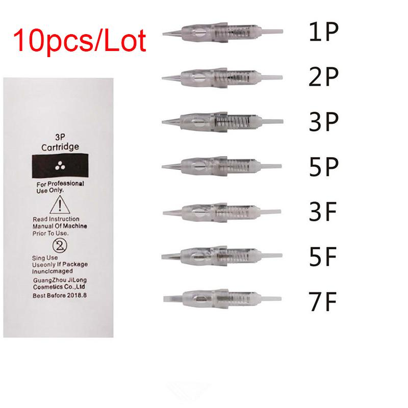 10 قطع 1 وعاء 2 وعاء 3 وعاء 5 وعاء 3f 5f 7f خرطوشة الوشم إبرة ل الحاجب الشفاه ماكياج الدائم جهاز جهاز تصبغ الوشم