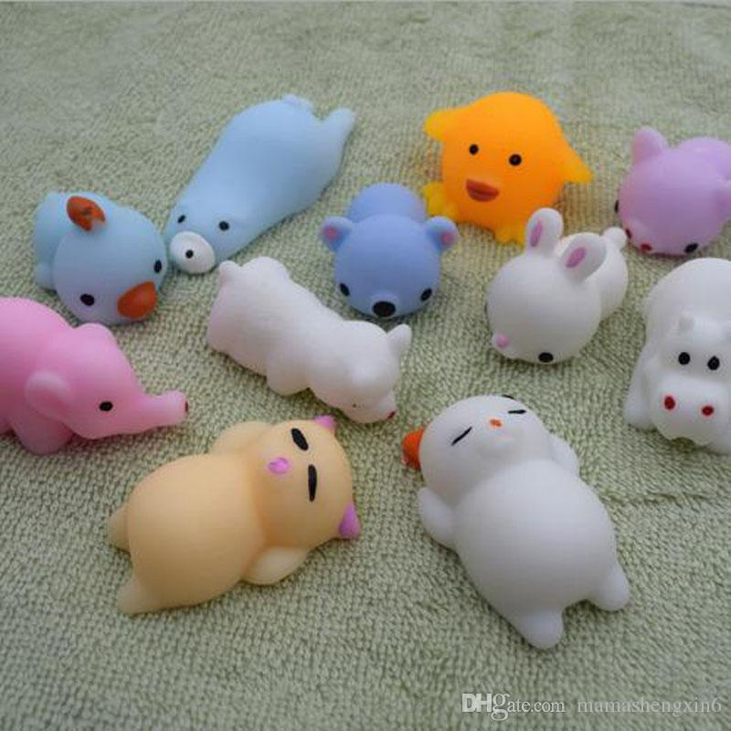 Squishy lento aumento dei Jumbo Toy Bun Giocattoli simpatici animali Kawaii Spremere Cartoon Giocattoli Mini Squishies Cat Squishiy Moda Regali Rare Animal Charms