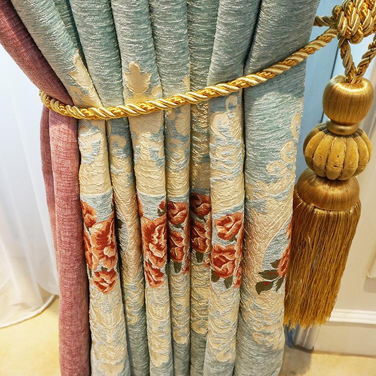 Cortinas Europeia chenille em relevo jacquard cortina de tecido grosso e também para sua casa umprir quarto quarto cortina acabado