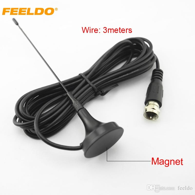 FEELDO Auto F Antena Ativa com Amplificador Integrado para TV Digital Car TV Antena # 918