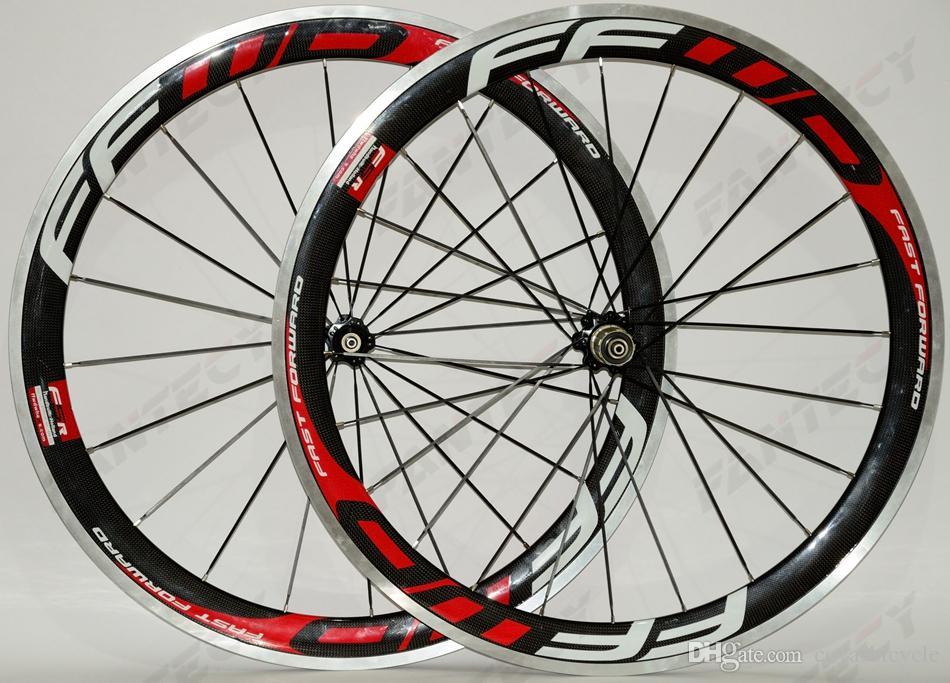 FFWD! 700C сплава тормозной поверхности углерода колеса 50 мм глубина дорожный велосипед колесная 23 мм ширина Clincher сплава обода 3 K глянцевая отделка U-shaep обода