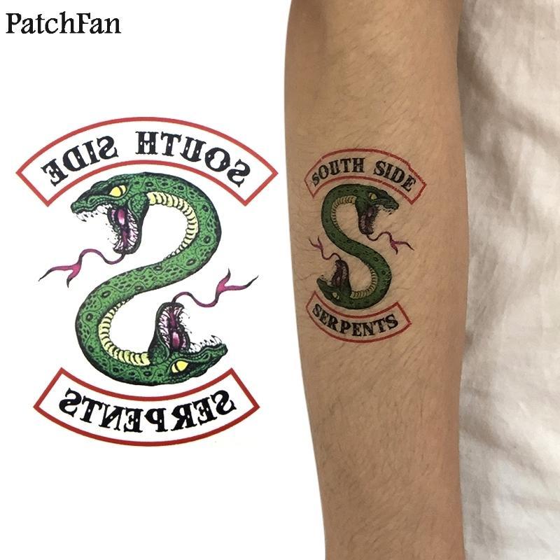 5 шт./компл. Patchfan Riverdale Southside Serpent diy прохладный временное боди-арт татуировки наклейки для diy плеча руку dropshipping A1073