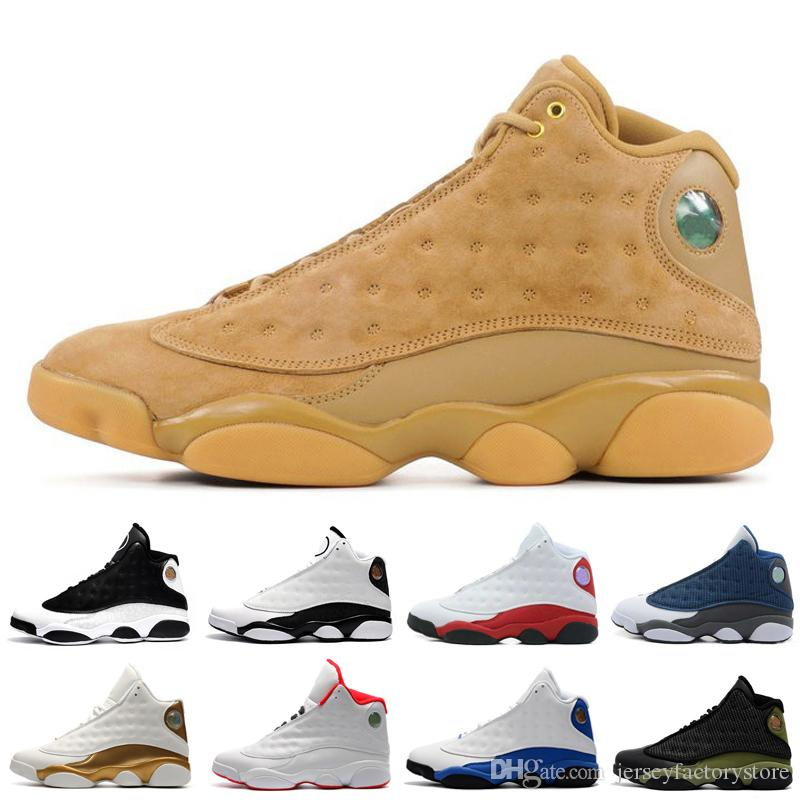 Ucuz Yeni 13 13s erkek basketbol ayakkabıları Kahverengi He Got Game Hologram Barons spor ayakkabıları kadın spor eğitmenleri erkekler kadınlar için koşu ayakkabıları Bred