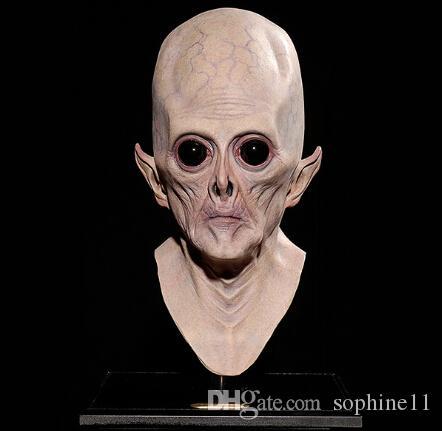 Alien Maske Karnaval Cadılar Bayramı Büyük Göz Alien Maske Korkunç Maske Cadılar Bayramı Festivali Parti Cosplay Kostüm Malzemeleri Tam Yüz Nefes Alien
