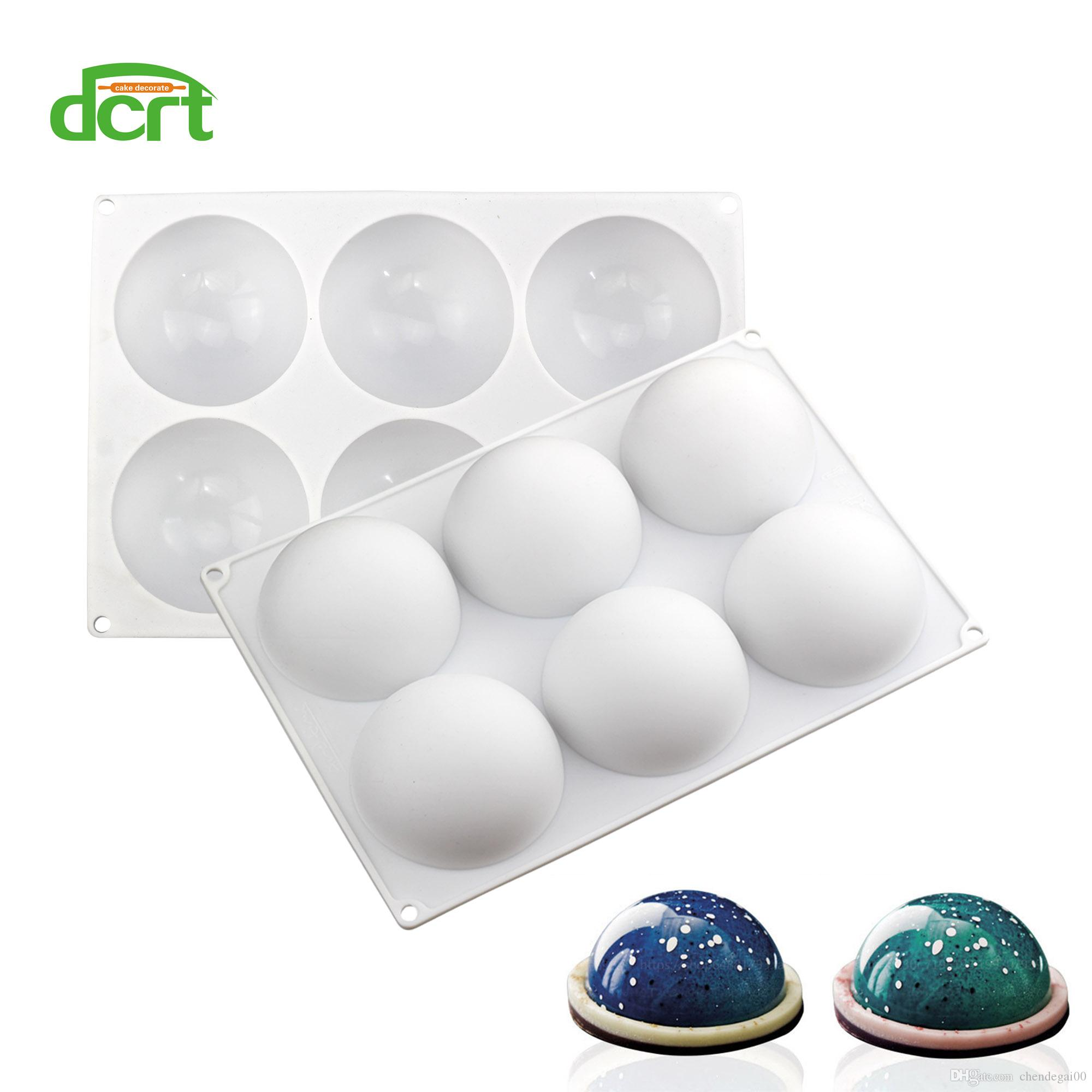 6 Cavity Half Ball Shape Silicone Cake Mold for Desserts Candy Chocolate Pastries Non-Stick Pans Cakes Decorating Bakeware