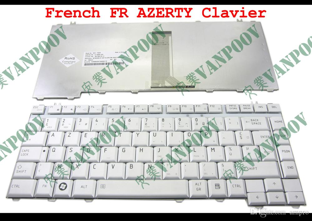 New Laptop keyboard For Toshiba Satellite A200 A205 A210 A215 A300 A305 M300 M200 L300 L510 Silver French FR AZERTY Clavier