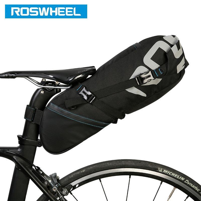 Toptan 131414 Bisiklet Seatpost Çanta Bisiklet Sele Koltuk Depolama Pannier Bisiklet MTB Yol Arka Paketi Su sıkı Uzatılabilir 8L 10L