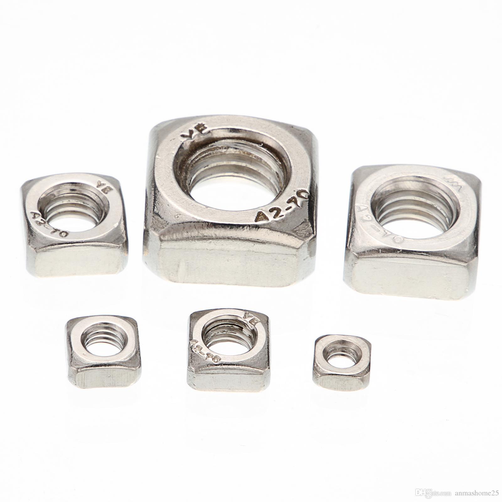 Quadrato in acciaio INOX dado M8/M10/dadi quadri confezione da pezzi
