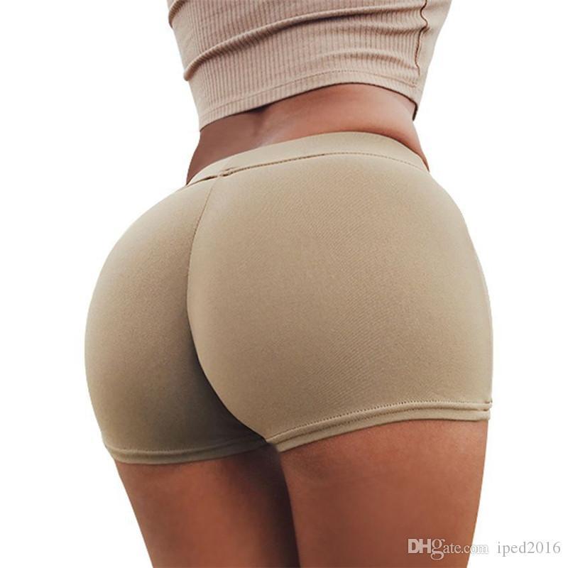 섹시한 여성 요가 반바지 복숭아 엉덩이는 운동 체육관 바지 스타킹 운동 의류 슬림 휘트니스 조깅 Femme 스포츠 반바지를 실행