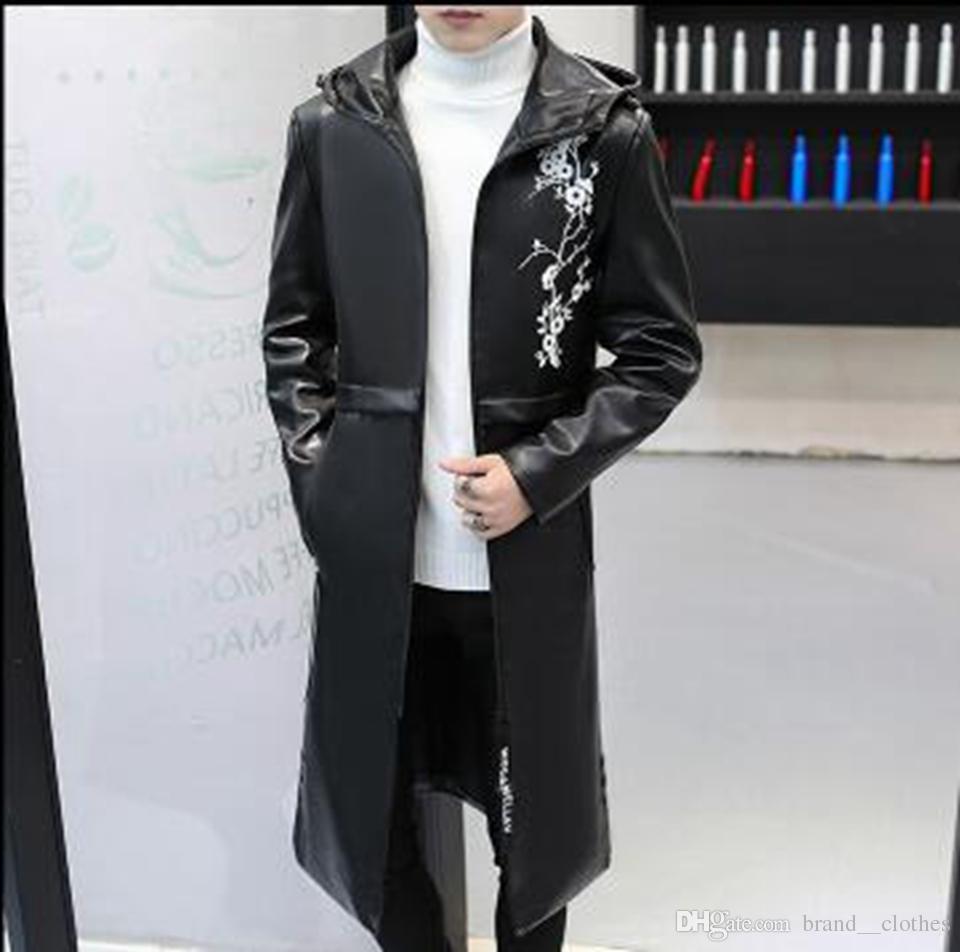 Großhandel Herren Winter Luxus Südkoreanische Version Der Neuen Mode Trend Persönlichkeit Abnehmen Warme Lange Lederjacke M 3XL Von Brand__clothes,