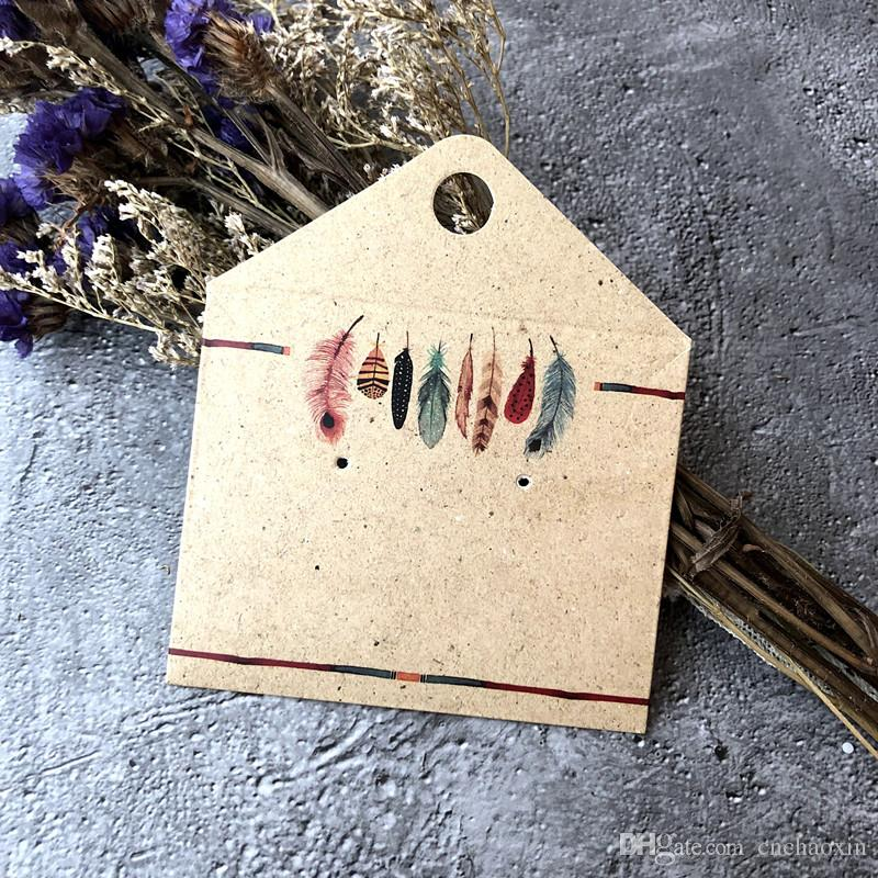 New Eight Color Envelope Design Necklace And Earring Showed Card Display Jewelry Card Small Paper Bag