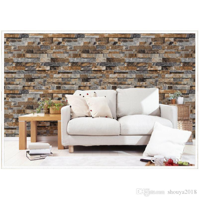 Modern 3d Brick Wall Sticker 95m053m Wallpaper Living Room Restaurant Bedroom Hotel Background Wall Decor Wallstick Paper Uk 2019 From Shouya2018