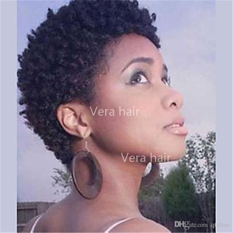 Wig Remy Human Hair Afro Curly Short Style Wigs Natural Black Hair Wigs For Black Woman Short Human Hair Kinky Curly Wigs Hair Wigs Real Hair Wigs From Qtzhao 25 51 Dhgate Com