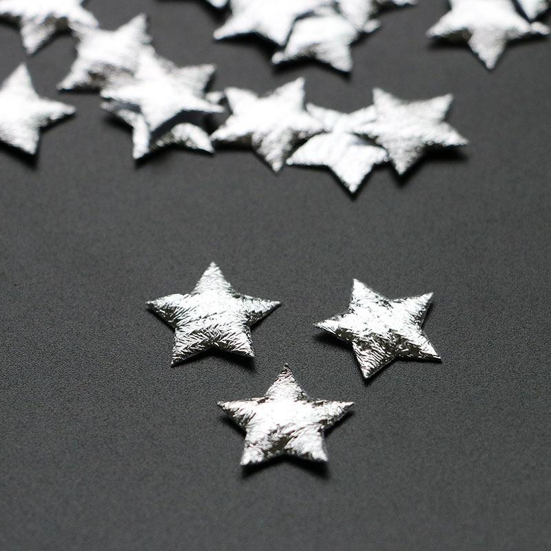 500PCS/LOT Silver Star applique merry Christmas ornament for candy gift box decoration home natal diy craft accessory Y18102609