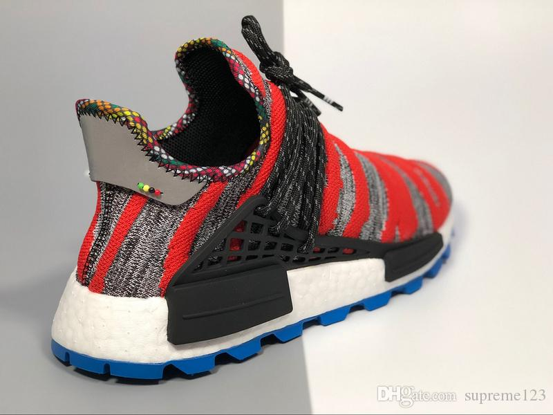 sale retailer 53d7d 1fab9 2019 New Release Creme X NERD Solar Pack Human Race NMD Red Men Women  Running Shoes Pharrell Williams Hu Athletic Top Quality Sneaker 36 45 From  ...