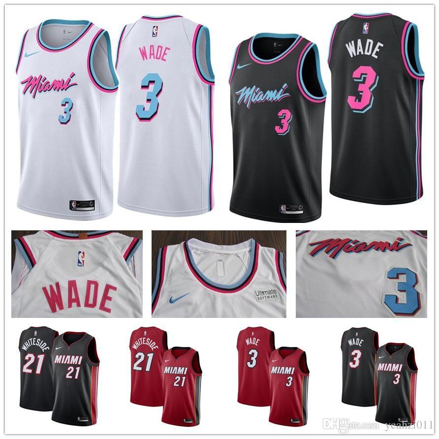 official photos 5e737 159c5 2018 2019 Cheap Miami Heat CITY EDITION Jersey 3 Dwyane Wade 7 Goran Dragic  21 Hassan Dwayne Whiteside Stitched Whosale Basketball Jerseys From ...
