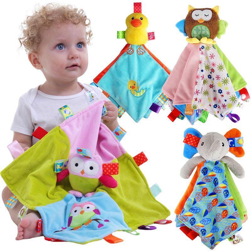 Großhandel Baby Beruhigende Handtuch Klingeln Label Puppe Schlafen ...