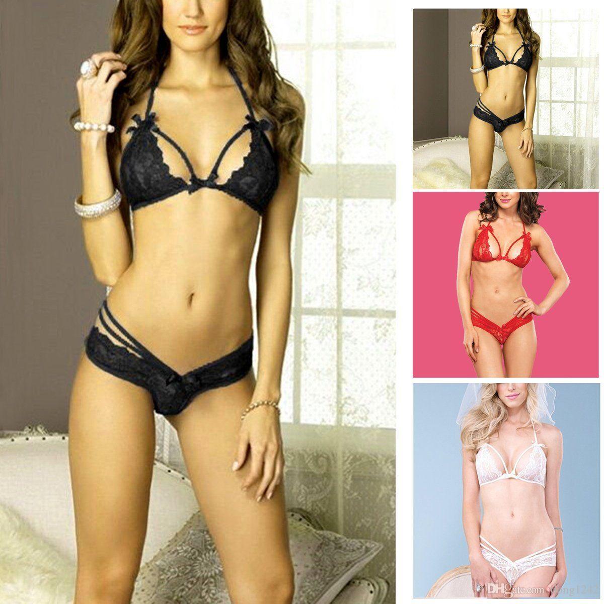 Sexy Women Lace Dress Lingerie Underwear Sleepwear G-string Bra BabyDoll
