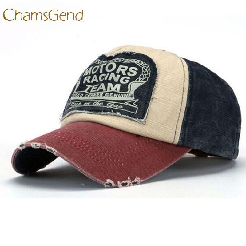 Diseño de nueva moda de los hombres de las mujeres unisex de béisbol retro Caps deporte de la motocicleta del sombrero envío de la gota # 0801