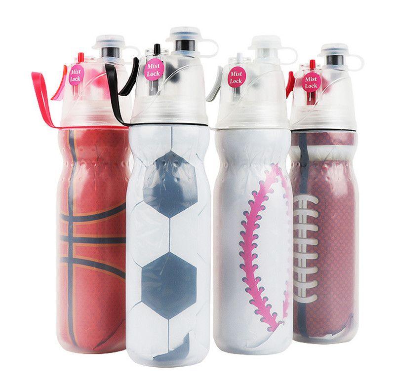 590 мл творческий Велоспорт спрей бутылку воды портативный туман спрей распыления бутылки Спорт на открытом воздухе тренажерный зал питьевой Drinkware бутылки шейкер