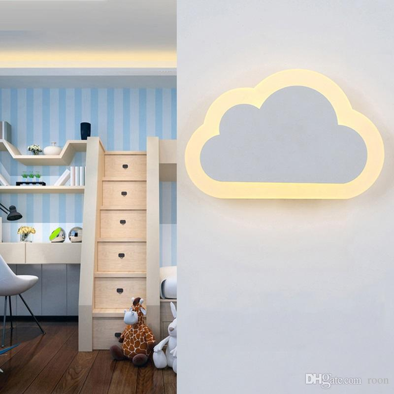 GPAN Wolke Wall lamp Indoor einfache s/ü/ße Kinderzimmer LED Wandlampe,Gray