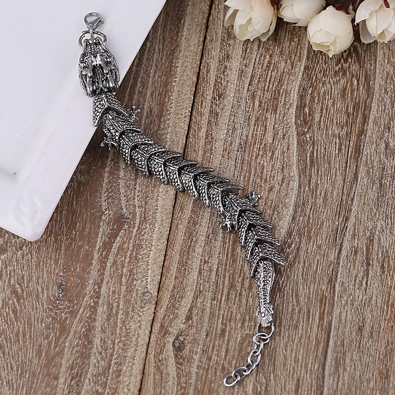 Unico regalo per amante Dragon Charms Bracciali Bang Punk bracciali in acciaio inossidabile per le donne uomini gioielli Pulseira