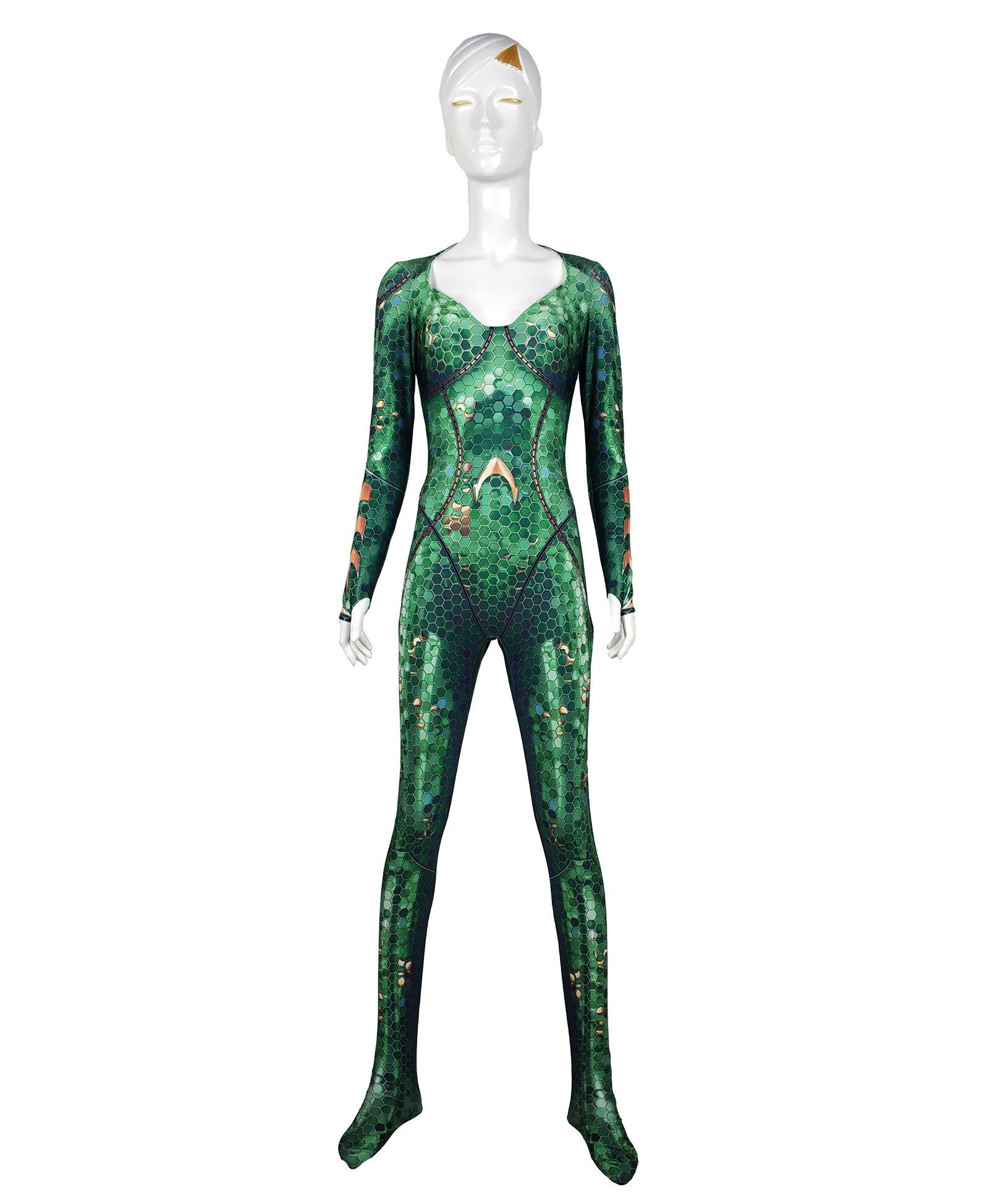Costume Mera Aquaman Version Film Mera Cosplay Body 3D Imprimer Costume Lycra Spandex Zentai Halloween costume