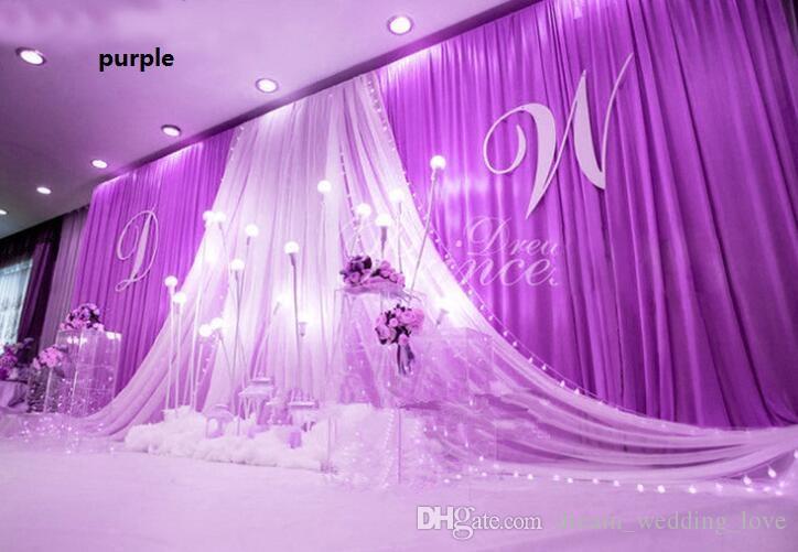 حفل زفاف المرحلة قطرة خلفية الاحتفال خلفية الحرير الستار الستارة عمود سقف خلفية الزواج الديكور الحجاب WT079