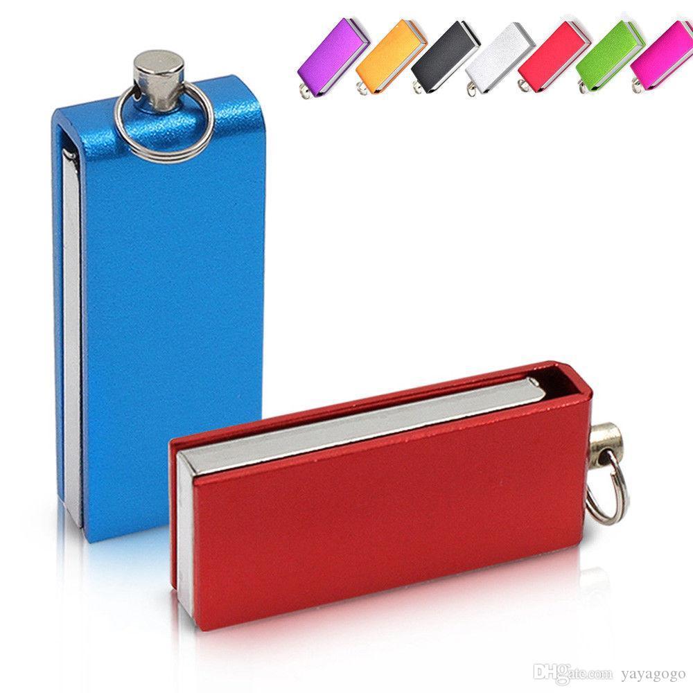 Mehrfarbenschwenker 64 GB Mini USB 2.0 Flash Drive Memory Stick Speicherstift Neuankömmling