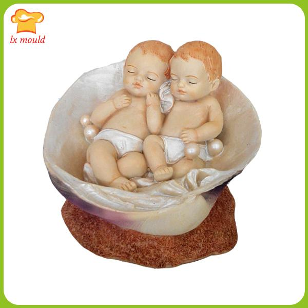 2019 Sea Shell Baby Doll Double Salt Carved Soap Silicone Mold Small Angel  Candle Molds Clay From Suozhi1992, $36 57 | DHgate Com