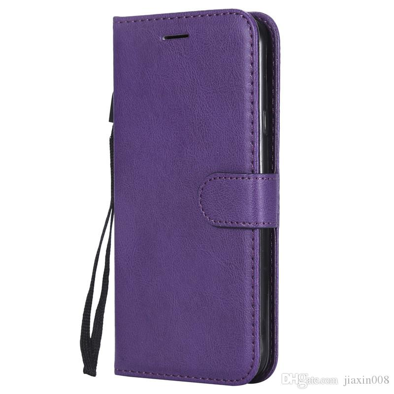 Wallet Case For Samsung Galaxy J4 2018 European Edition Flip back Cover Pure Color PU Leather Mobile Phone Bags Coque Fundas
