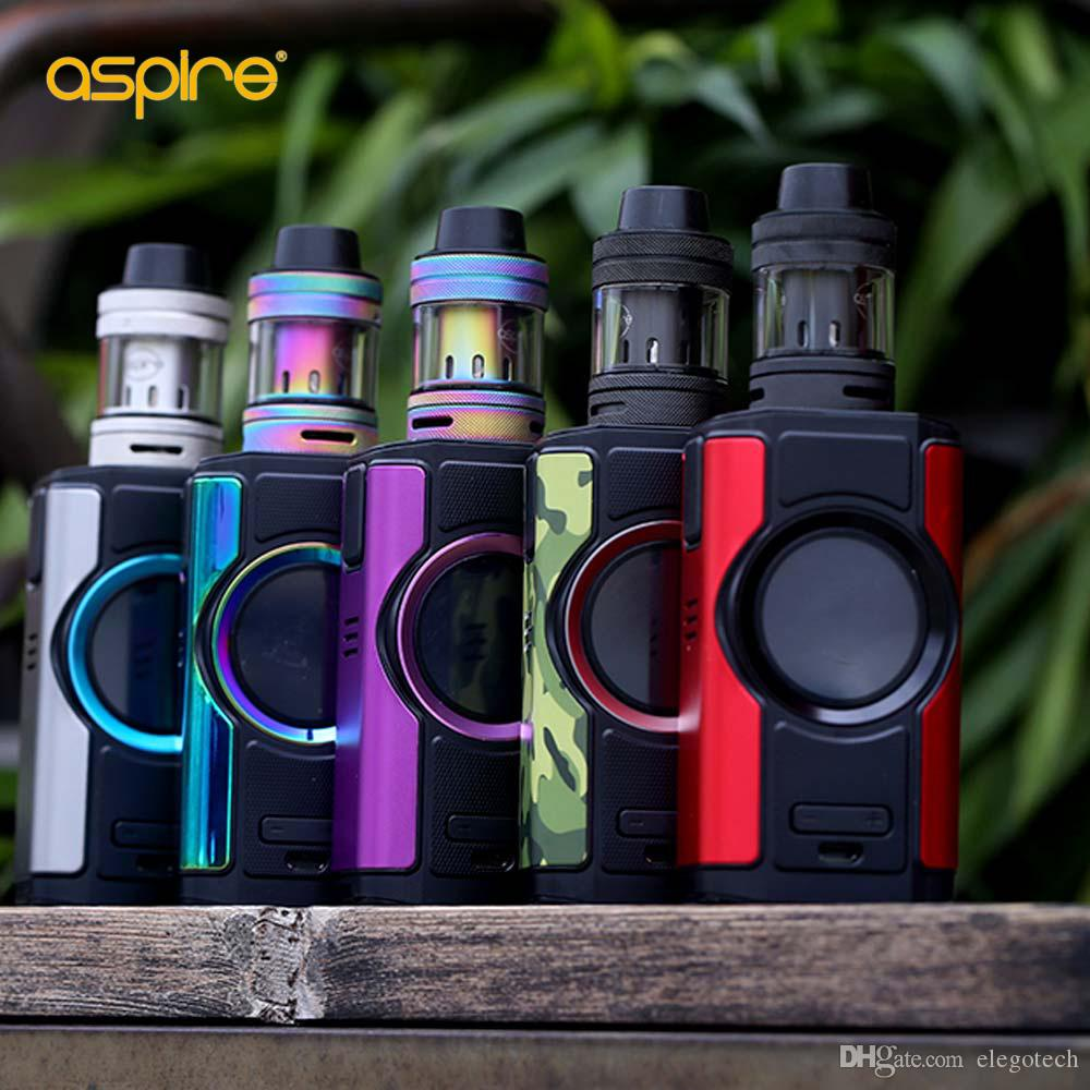 100% Authentic Aspire Dynamo 220W TC Kit with Nepho Tank Atomizer 4ml & Round 2-inch TFT Color Display E Cig Kit with Retail Package