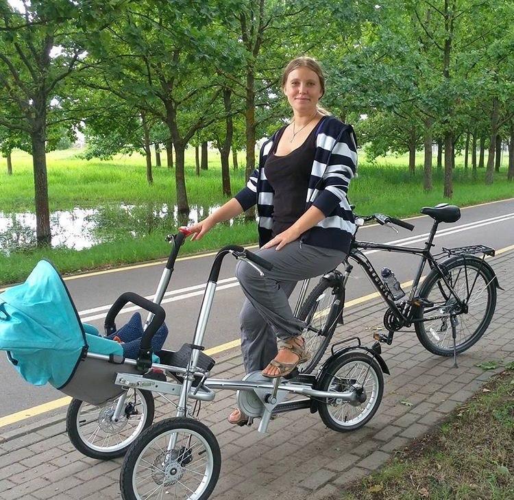 Ruituo Anne Bebek Bisiklet Ebeveyn-Çocuk Bisiklet İkiz Bebek Arabası Taga Bike MyC01