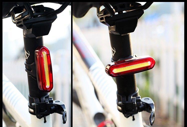 Cyclisme Eclairage Trendyest rechargeable USB 100LM LED de vélo arrière arrière étanche avertissement lampe