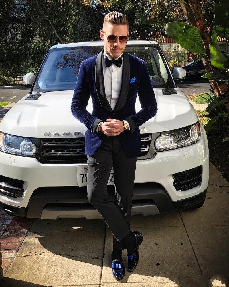 Latest Desi High Quality Handsome Shawl Lapel Wedding Groom Tuxedos Men Suits Wedding/Prom/Dinner Best Man Blazer(Jacket+Tie+Girdle+Pants) A