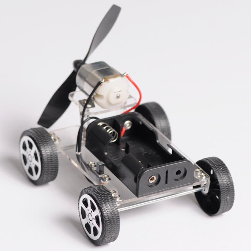 Technologie Acheter Artisanat Puzzle Jouet Mini À Petit Avec Vent Faisant Amusin D'invention De Diy Matériel Paquet Voiture Chariot Le Aj4R5L